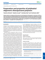 Preparation and properties of polyhedral oligomeric silsesquioxane polymers.