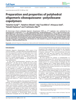 Preparation and properties of polyhedral oligomeric silsesquioxaneЦpolysiloxane copolymers.