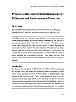 Process Control and Optimization in Energy Utilization and Environmental Protection.