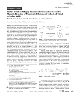 Proline-Catalyzed Highly Enantioselective and anti-Selective Mannich Reaction of Unactivated Ketones  Synthesis of Chiral -Amino Acids.