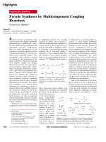 Pyrrole Syntheses by Multicomponent Coupling Reactions.