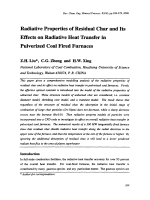 Radiative Properties of Residual Char and Its Effects on Radiative Heat Transfer in Pulverized Coal Fired Furnaces.