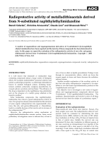 Radioprotective activity of metalladithioacetals derived from N-substituted naphthylethylimidazoline.