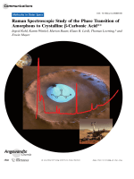 Raman Spectroscopic Study of the Phase Transition of Amorphous to Crystalline -Carbonic Acid.