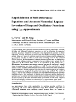 Rapid Solution of Stiff Differential Equations and Accurate Numerical Laplace Inversion of Steep and Oscillatory Functions using IMN Approximants.