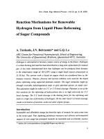 Reaction Mechanisms for Renewable Hydrogen from Liquid Phase Reforming of Sugar Compounds.