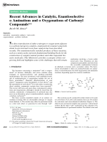 Recent Advances in Catalytic  Enantioselective  Aminations and  Oxygenations of Carbonyl Compounds.