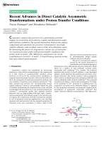 Recent Advances in Direct Catalytic Asymmetric Transformations under Proton-Transfer Conditions.