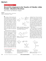 Recent Developments in the Transfer of Chirality within Enolate Alkylation Reactions.