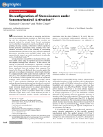 Reconfiguration of Stereoisomers under Sonomechanical Activation.