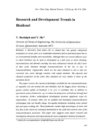 Research and Development Trends in Biodiesel.
