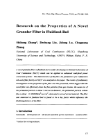 Research on the Properties of A Novel Granular Filter in Fluidized-Bed.