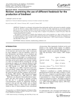 Review  examining the use of different feedstock for the production of biodiesel.