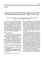 Rheumatic manifestations associated with human immunodeficiency virus infection.