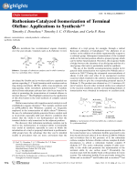 Ruthenium-Catalyzed Isomerization of Terminal Olefins  Applications to Synthesis.