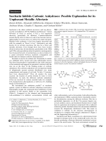 Saccharin Inhibits Carbonic Anhydrases  Possible Explanation for its Unpleasant Metallic Aftertaste.
