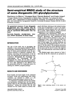 Semi-empirical MNDO study of the structure of some diorganotin (IV) glycylglycinates.