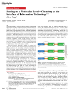 Sensing on a Molecular LevelЧChemistry at the Interface of Information Technology.