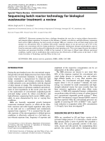 Sequencing batch reactor technology for biological wastewater treatment  a review.