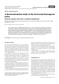 Short communication  A thermochromism study in the ferrocenyl-benzopyran series.