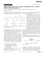 Simple  Stable  and Easily Accessible Well-Defined CuCF3 Aromatic Trifluoromethylating Agents.