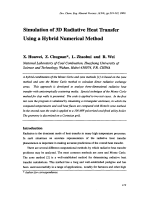 Simulation of 3D Radiative Heat Transfer Using a Hybrid Numerical Method.