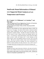 Small-scale Steam Reformation of Ethanol over Supported Metal Catalysts at Low Temperature and Pressure.