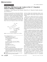 Solid-State NMR Spectroscopic Analysis of the Ca2+-Dependent Mannose Binding of PradimicinA.