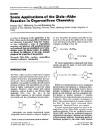 Some applications of the dielsЦalder reaction in organosilicon chemistry.