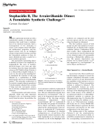 Stephacidin B  The Avrainvillamide Dimer  A Formidable Synthetic Challenge.