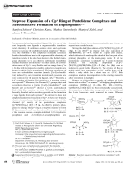 Stepwise Expansion of a Cp.200904827.pdf Ring at Pentelidene Complexes and Stereoselective Formation of Triphosphines