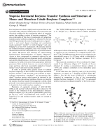 Stepwise Intermetal Borylene Transfer  Synthesis and Structure of Mono- and Dinuclear CobaltЦBorylene Complexes.