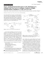 Stereo- and Regiochemical Divergence in the Substitution of a Lithiated Alk-1-en-3-yn-2-yl Carbamate  Synthesis of Highly Enantioenriched Vinylallenes or Alk-3-en-5-yn-1-ols.