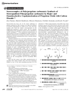 Stereocomplex of Poly(propylene carbonate)  Synthesis of Stereogradient Poly(propylene carbonate) by Regio- and Enantioselective Copolymerization of Propylene Oxide with Carbon Dioxide.