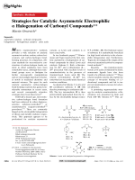 Strategies for Catalytic Asymmetric Electrophilic  Halogenation of Carbonyl Compounds.