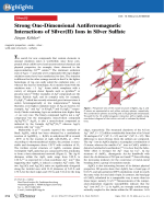 Strong One-Dimensional Antiferromagnetic Interactions of Silver(II) Ions in Silver Sulfate.
