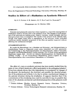 Studies in effect of -radiation on synthetic fibres-I.