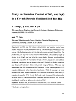 Study on Emission Control of NOx and N2O in a Fly-ash Recycle Fluidized Bed Test Rig.