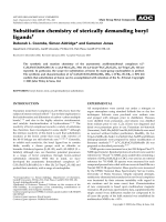 Substitution chemistry of sterically demanding boryl ligands.