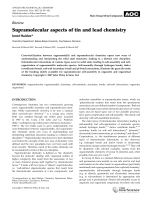 Supramolecular aspects of tin and lead chemistry.
