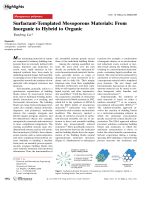 Surfactant-Templated Mesoporous Materials  From Inorganic to Hybrid to Organic.