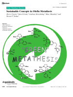 Sustainable Concepts in Olefin Metathesis.