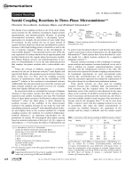 Suzuki Coupling Reactions in Three-Phase Microemulsions.