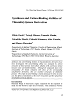 Syntheses and Cation-Binding Abilities of Thiacalix[4]arene Derivtives.
