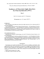 Syntheses of ultraviolet light absorbers for polyvinylchloride (PVC). Part I