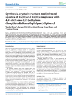 Synthesis  crystal structure and infrared spectra of Cu(II) and Co(II) complexes with 4 4-dichloro-2 2-[ethylene dioxybis(nitrilomethylidyne)]diphenol.