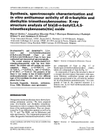 Synthesis  spectroscopic characterization and in vitro antitumour activity of di-n-butyltin and diethyltin trimethoxybenzoates  X-ray structure analysis of bis[di-n-butyl(3 4 5-trimethoxybenzoato)tin] oxide.