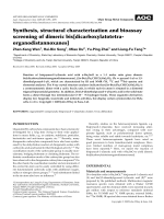 Synthesis  structural characterization and bioassay screening of dimeric bis[dicarboxylatotetraorganodistannoxanes].