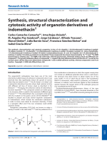 Synthesis  structural characterization and cytotoxic activity of organotin derivatives of indomethacin.