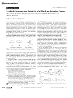 Synthesis  Structure  and Reactivity of a Dihydrido Borenium Cation.